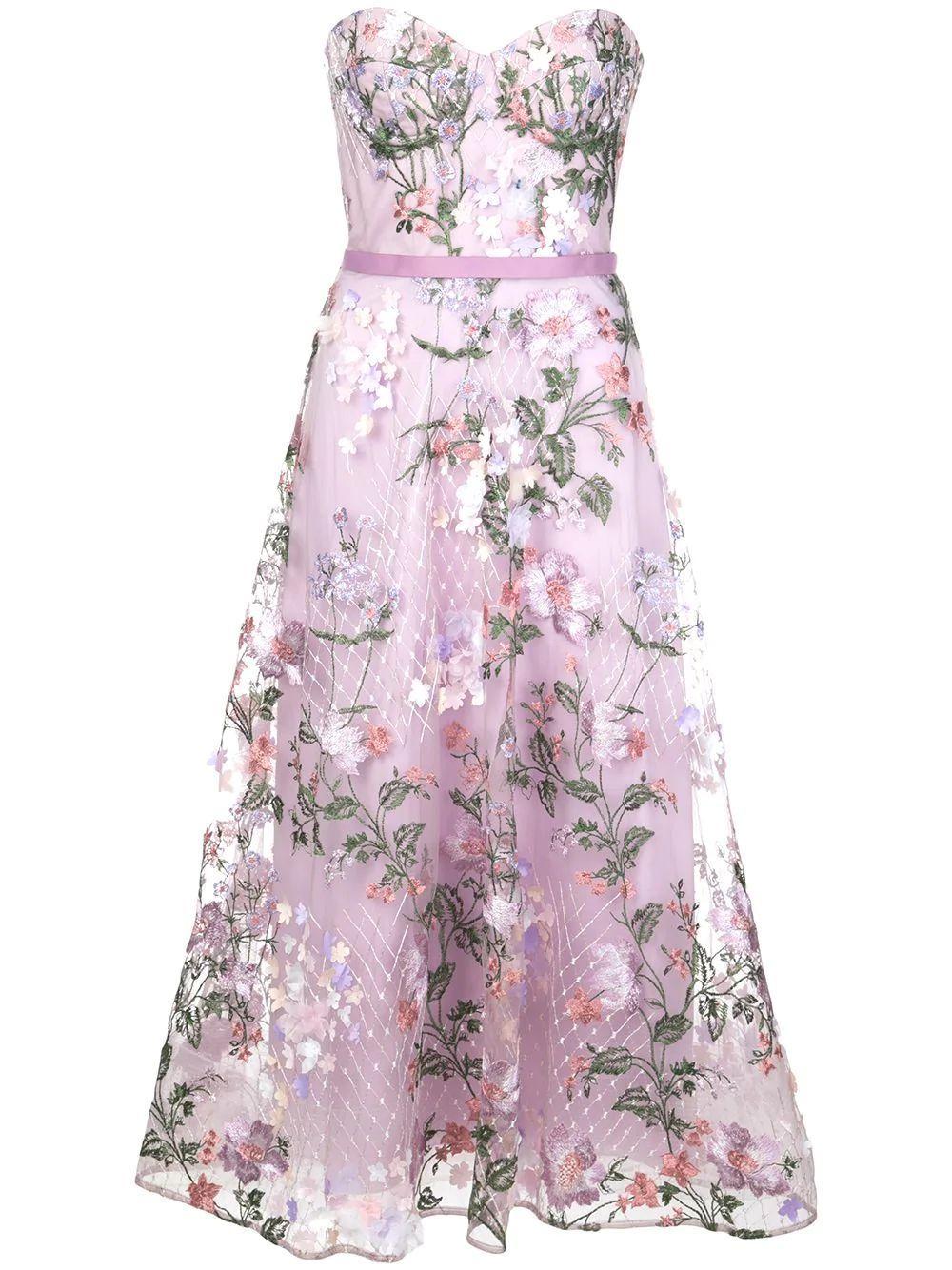 Off The Shoulder Tea Length Gown Item # N38M1922