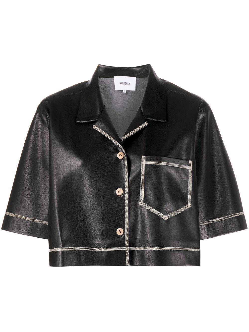 Vegan Leather Cropped Jacket