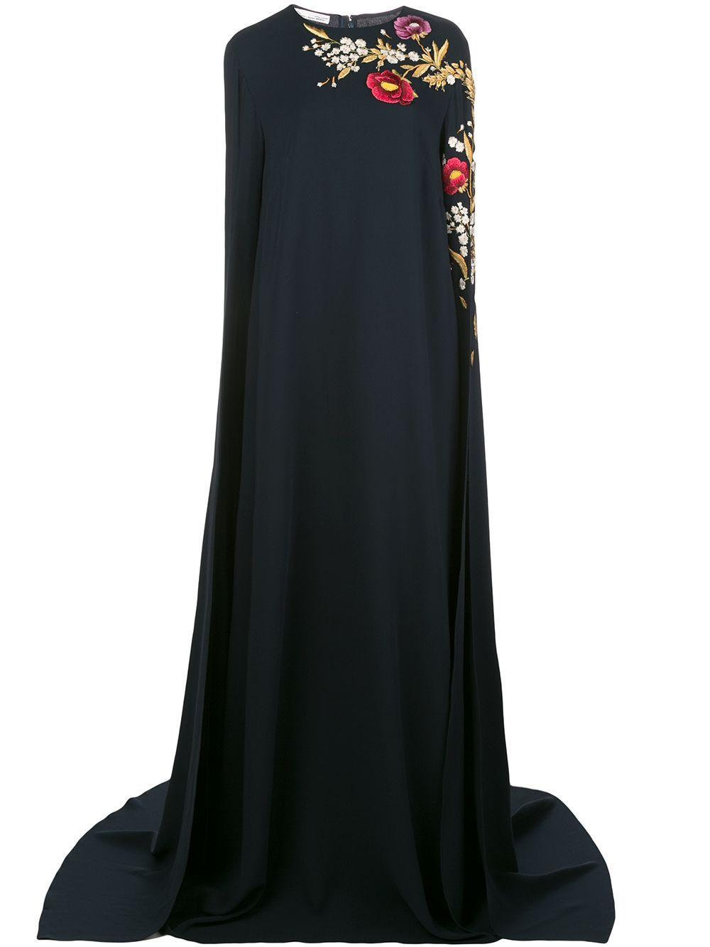 Caftan With Floral Embroidery