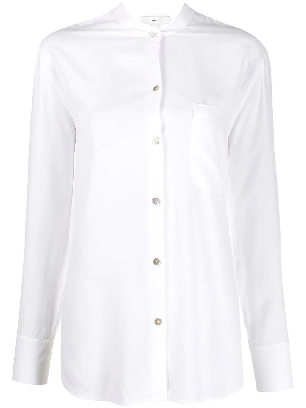 Relaxed Band Collar Blouse