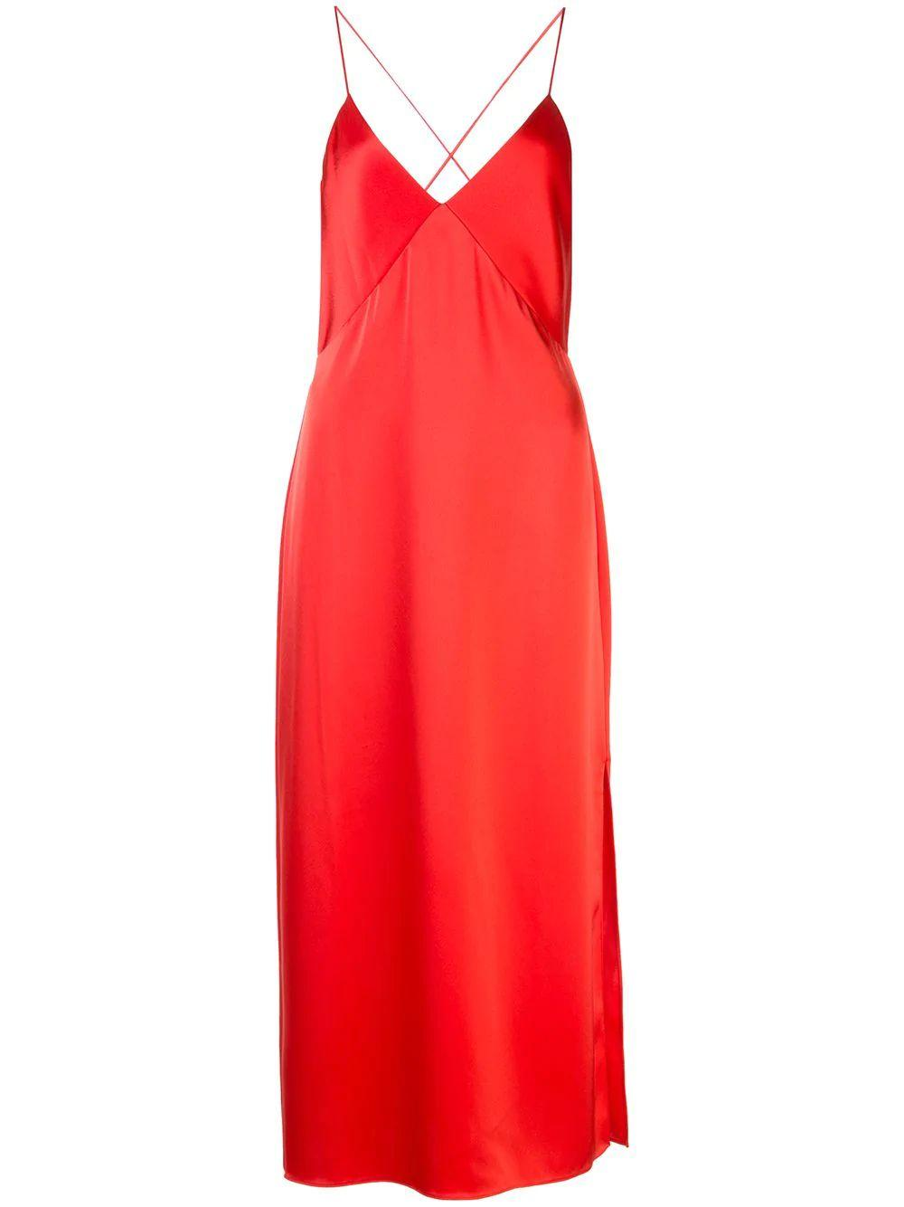 Loraine Seamed Slip Midi Dress Item # CC003084542