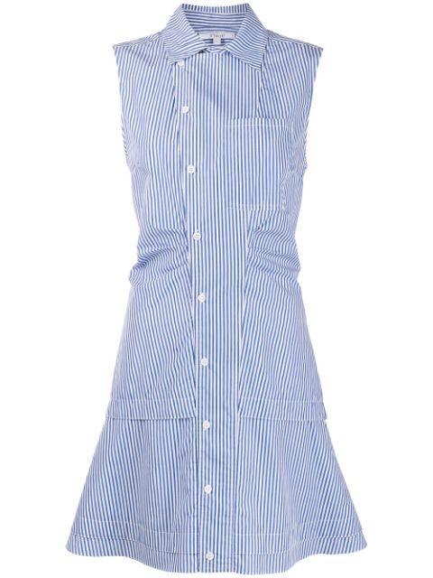 Satina Sleeveless Shirt Dress Item # TC00500SS