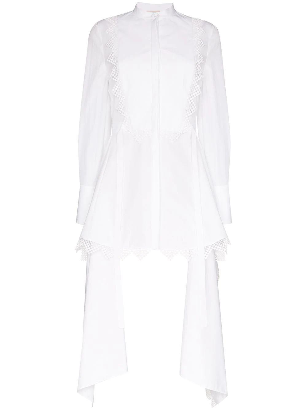 Cotton Blouse With Lace Tails Item # 617738QAAAD