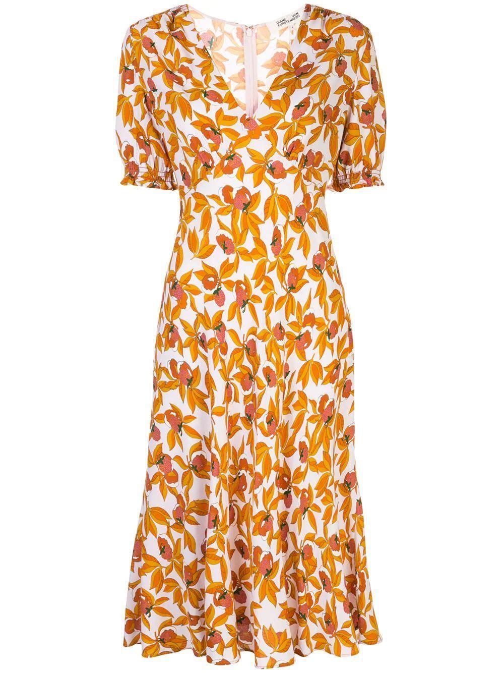 Idris Puff Sleeve Midi Dress