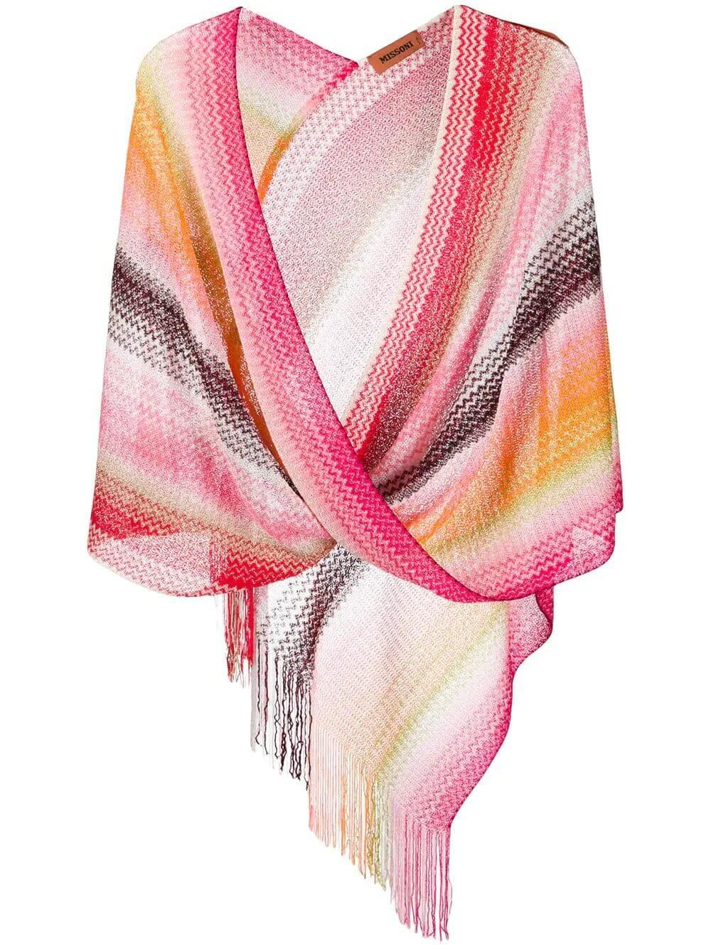 Wrap With Fringe Hem
