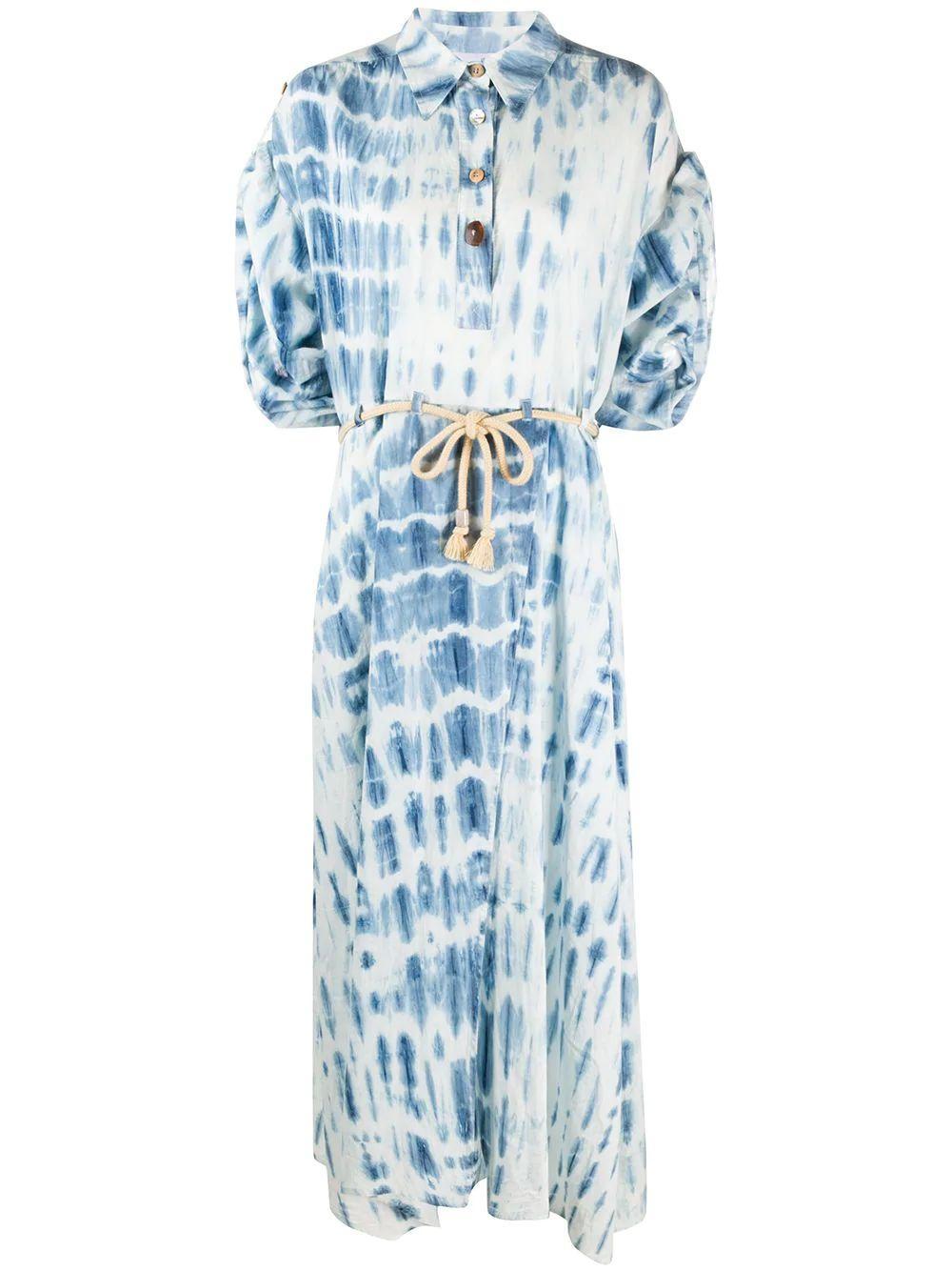 Hanna Bock Print Maxi Shirt Dress Item # WDR00278