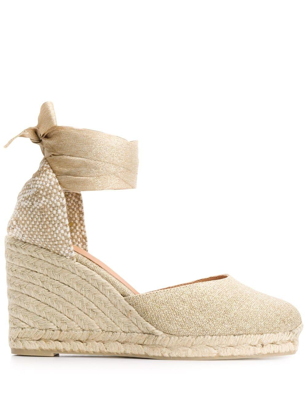 Ankle Wrap Espadrille Wedge Sandal