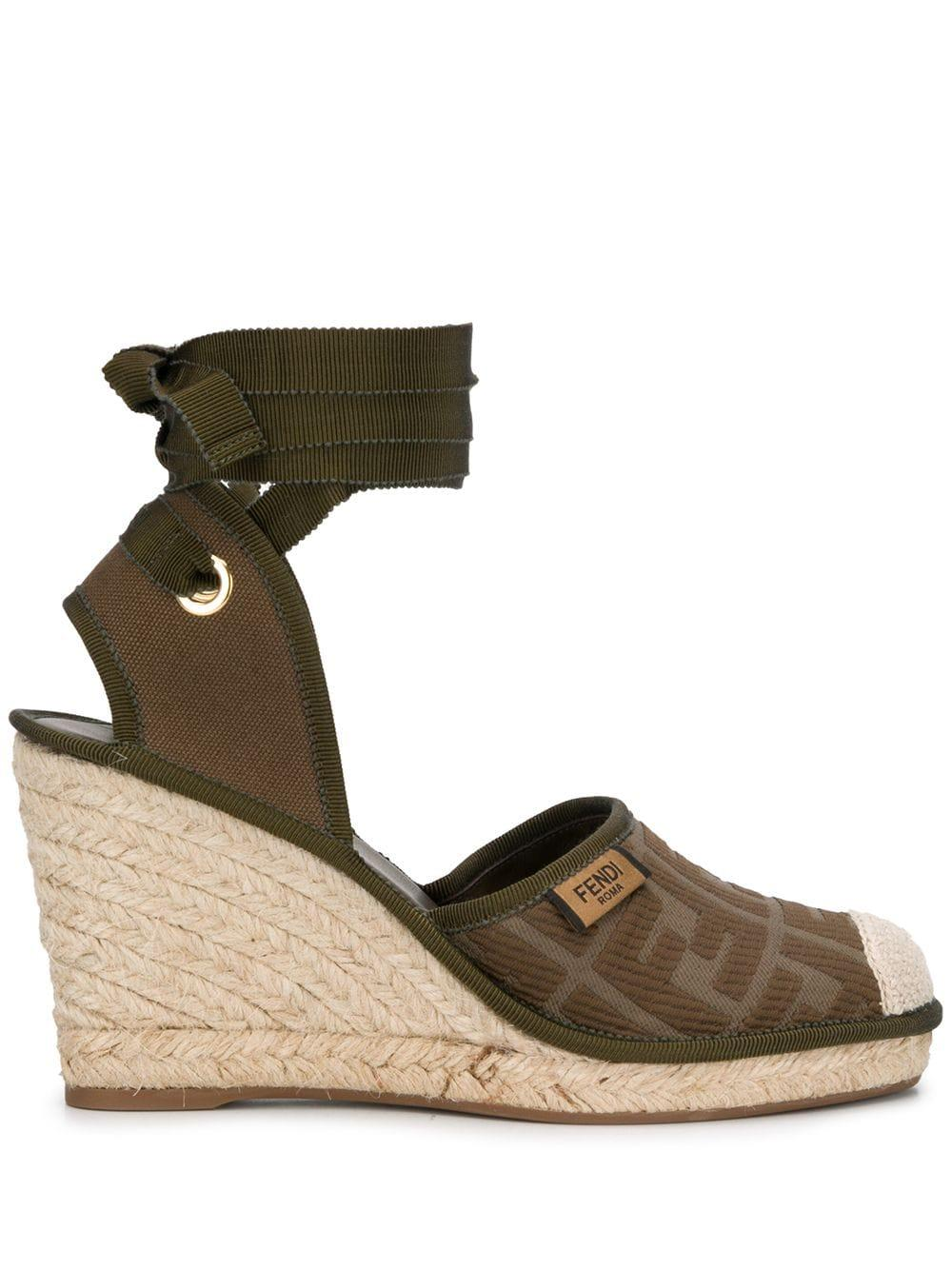 Wedge Espadrille With Ankle Tie Item # 8V7072-ABN2