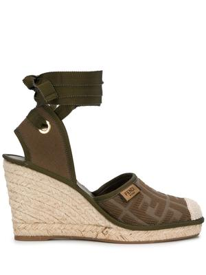 Wedge Espadrille With Ankle Tie