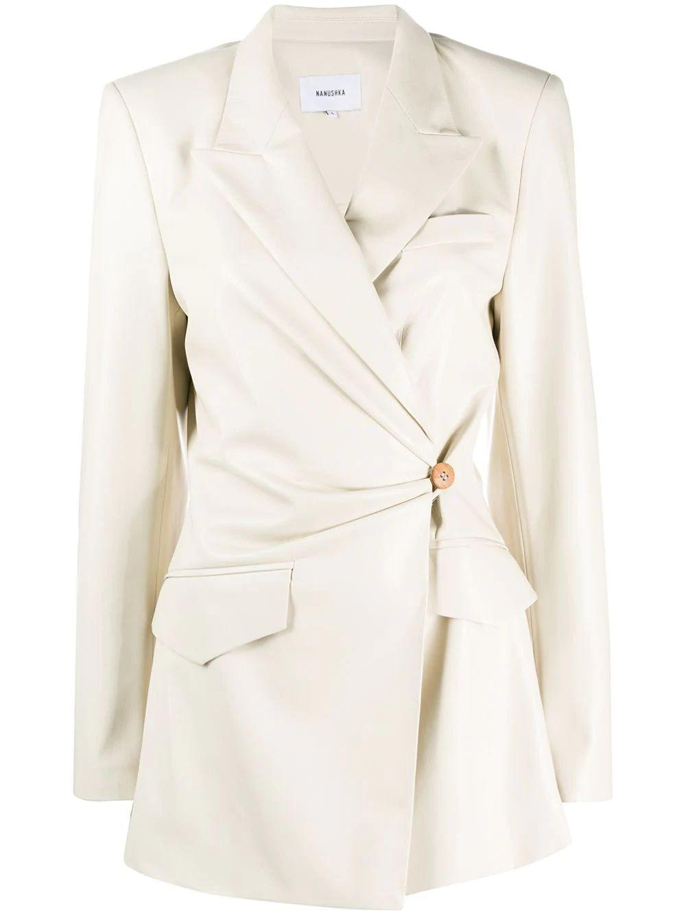 Blair Side Button Vegan Leather Jacket Item # WJA00116