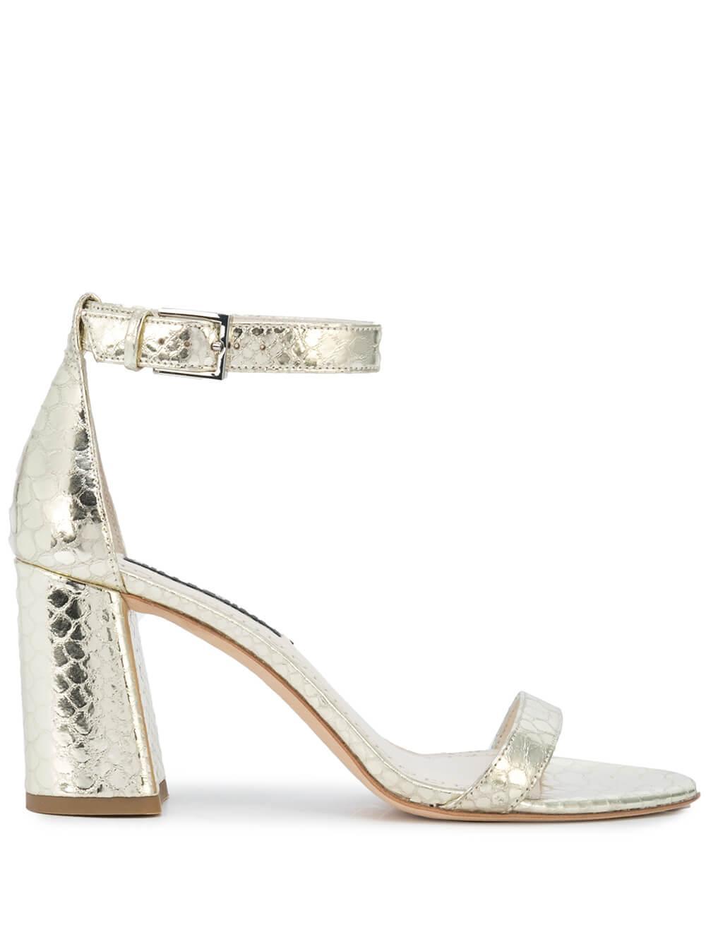 Ankle Strap Block Heel Sandal Item # LILLIAN-G