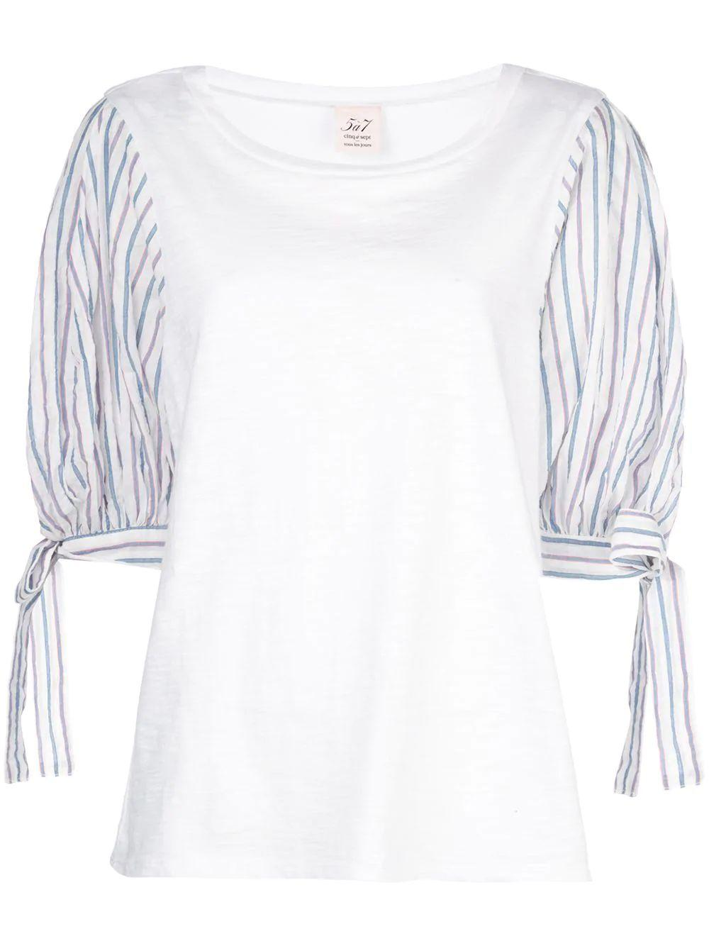 Stripe Mix Media Daise Top