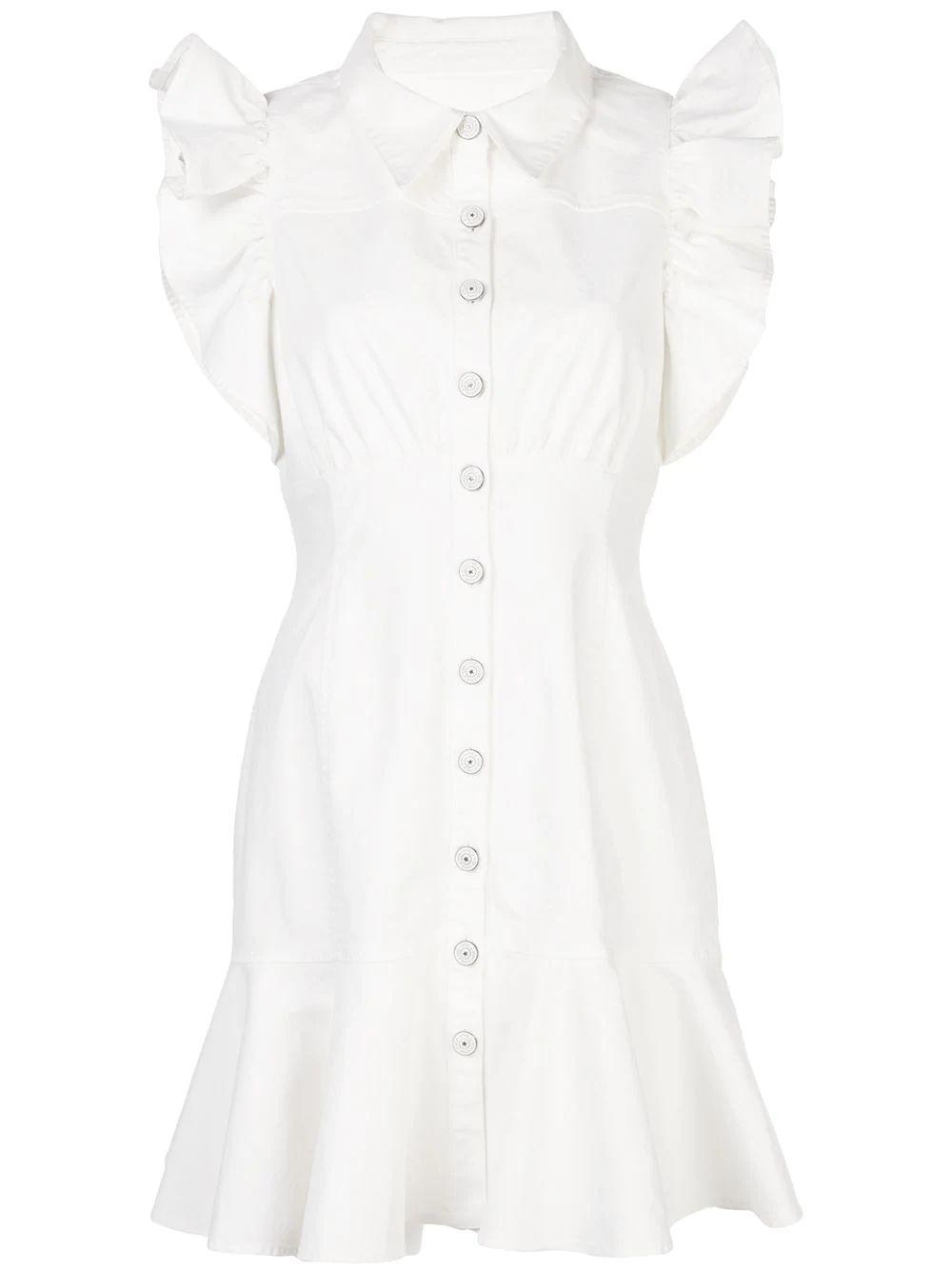 Yvette Ruffle Trim Bttndn Dress