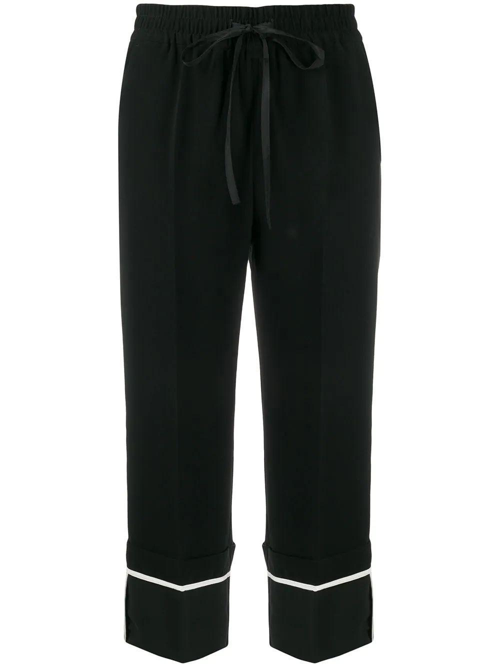 Cropped Drawstring Trouser Item # TR3RBB954RA-C