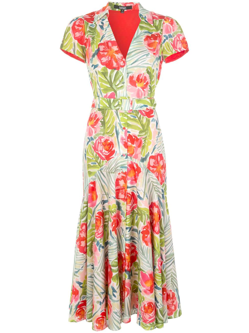 Printed Palm Day Dress Item # BSD4394