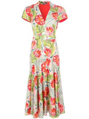 Printed Palm Day Dress
