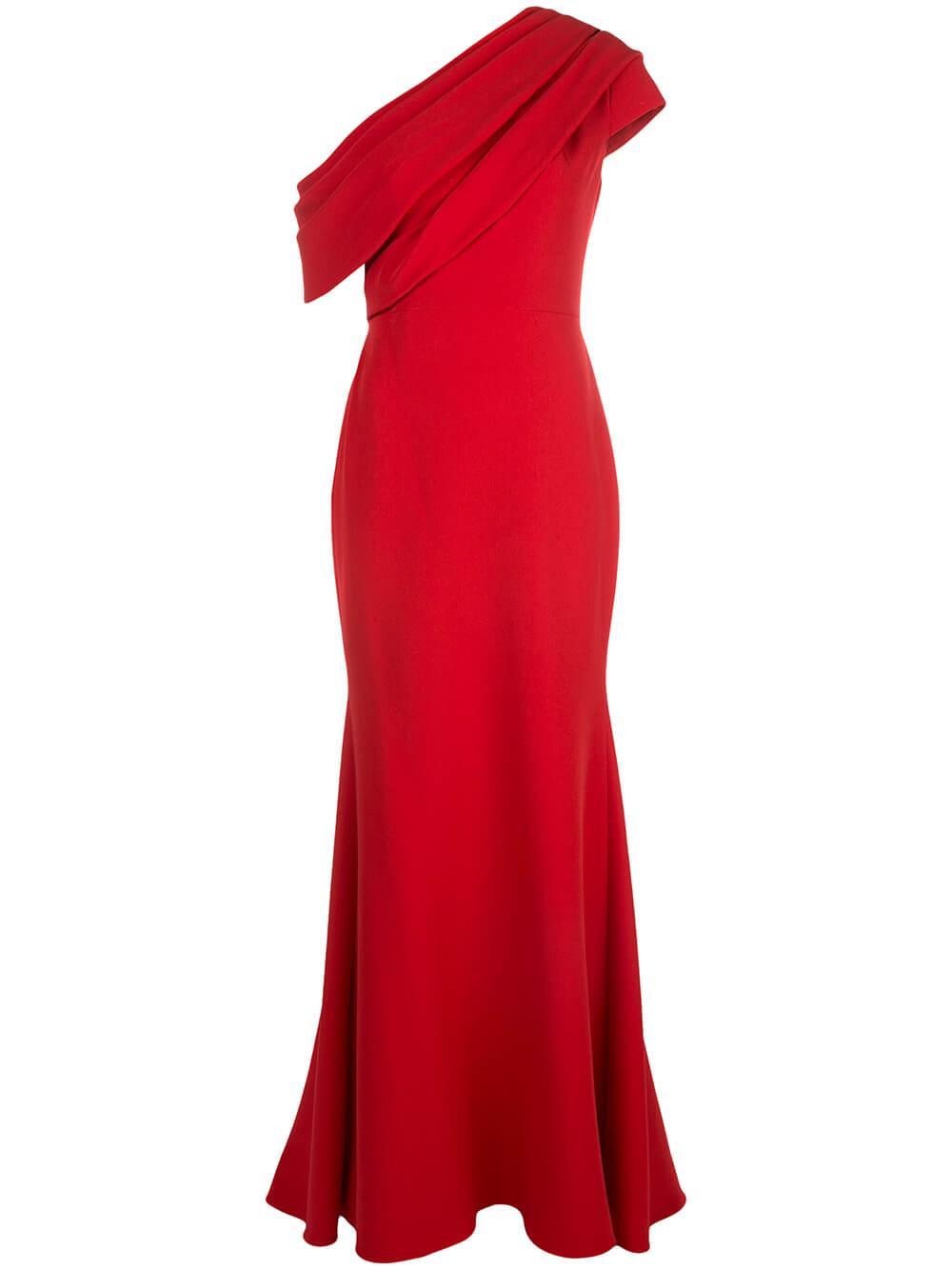 Asymmetrical One Shoulder Gown Item # EG3004