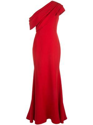 Asymmetrical One Shoulder Gown