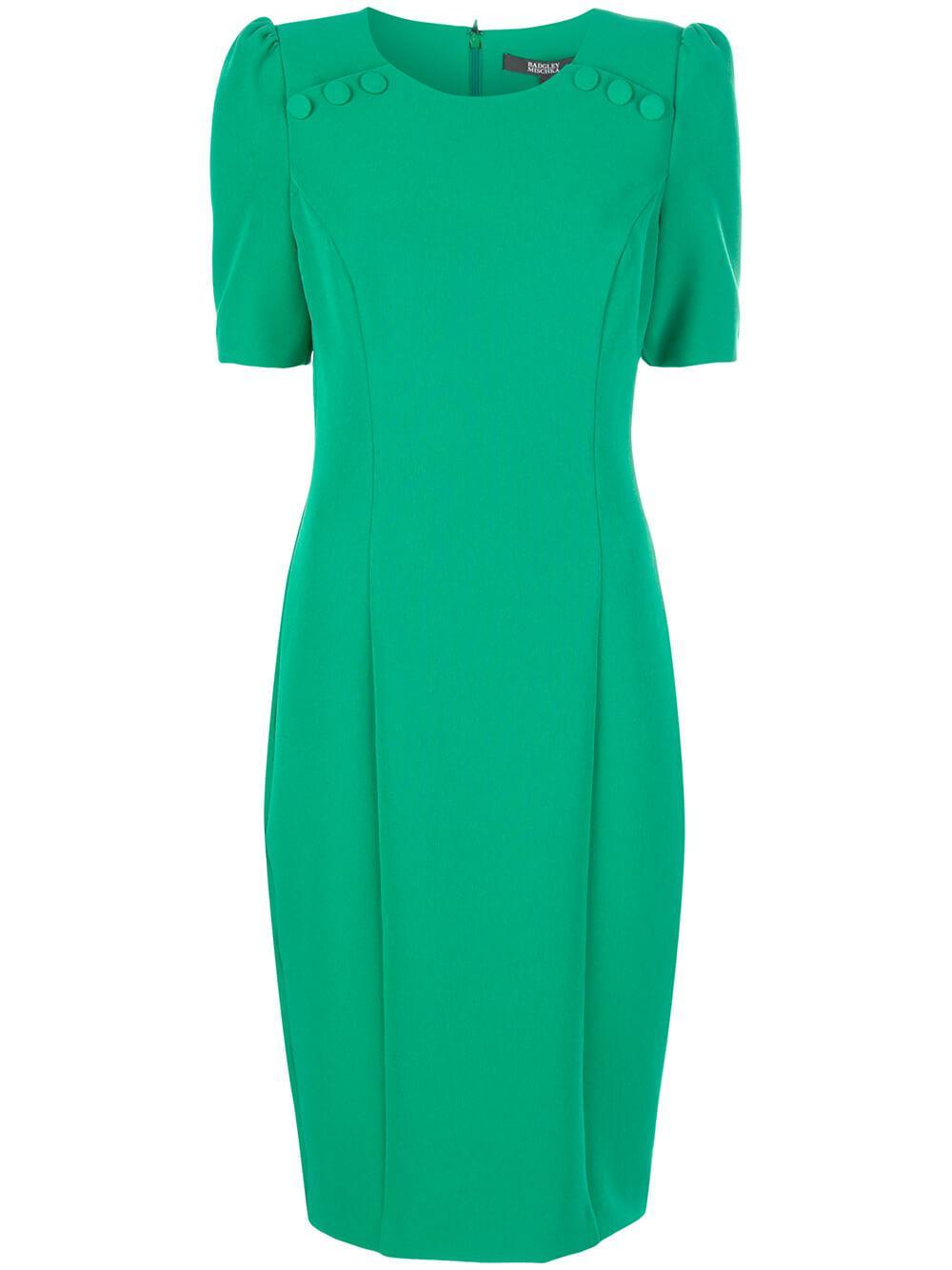 Short Sleeve Button Dress Item # BSD4364