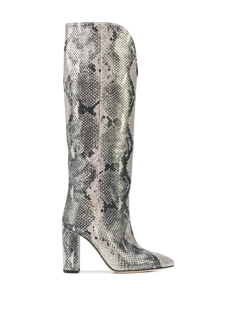 Python Lame Print High Rounded Boot