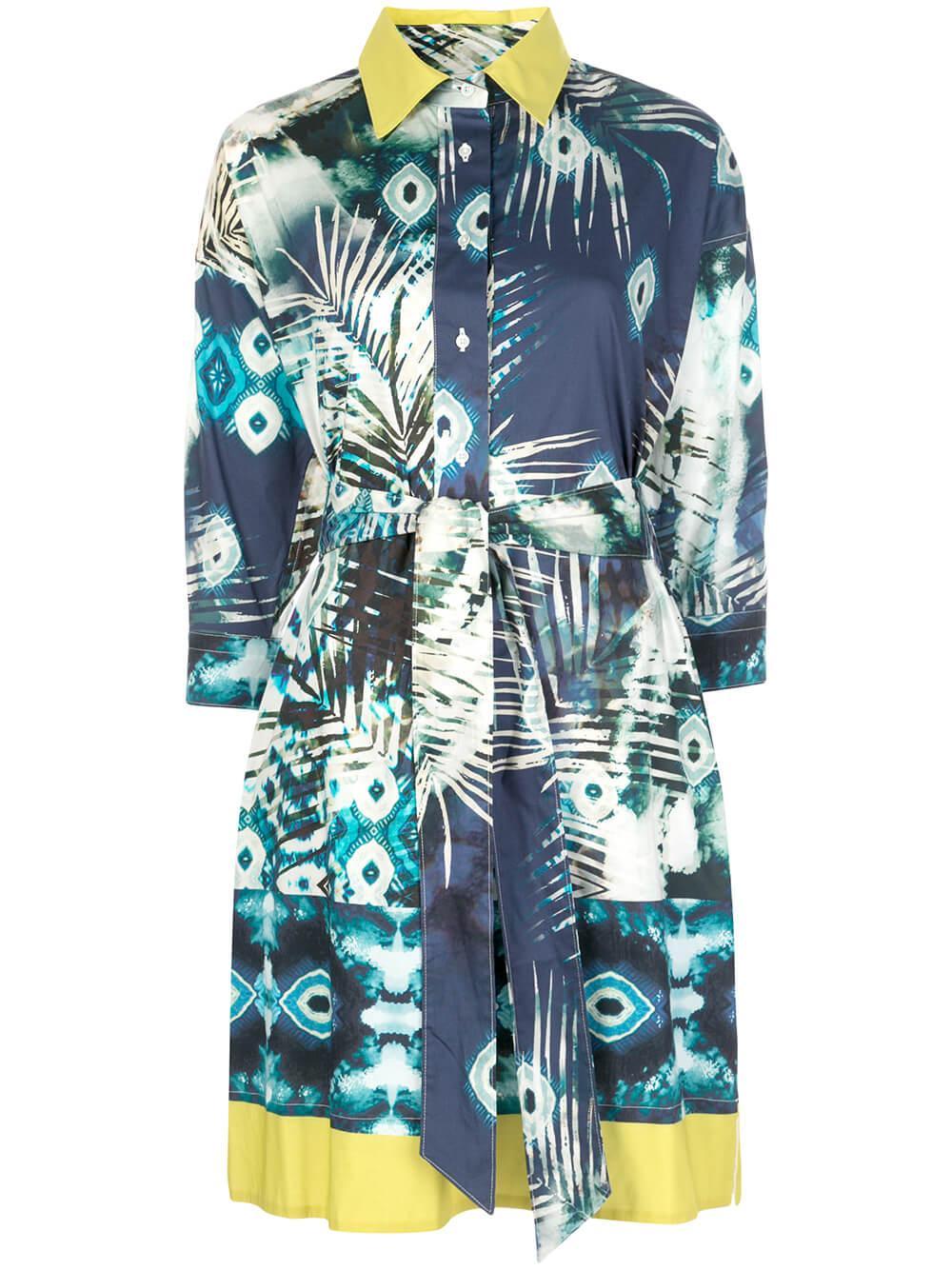 Printed Stretch Poplin Short Dress Item # 8EKATERY30-99