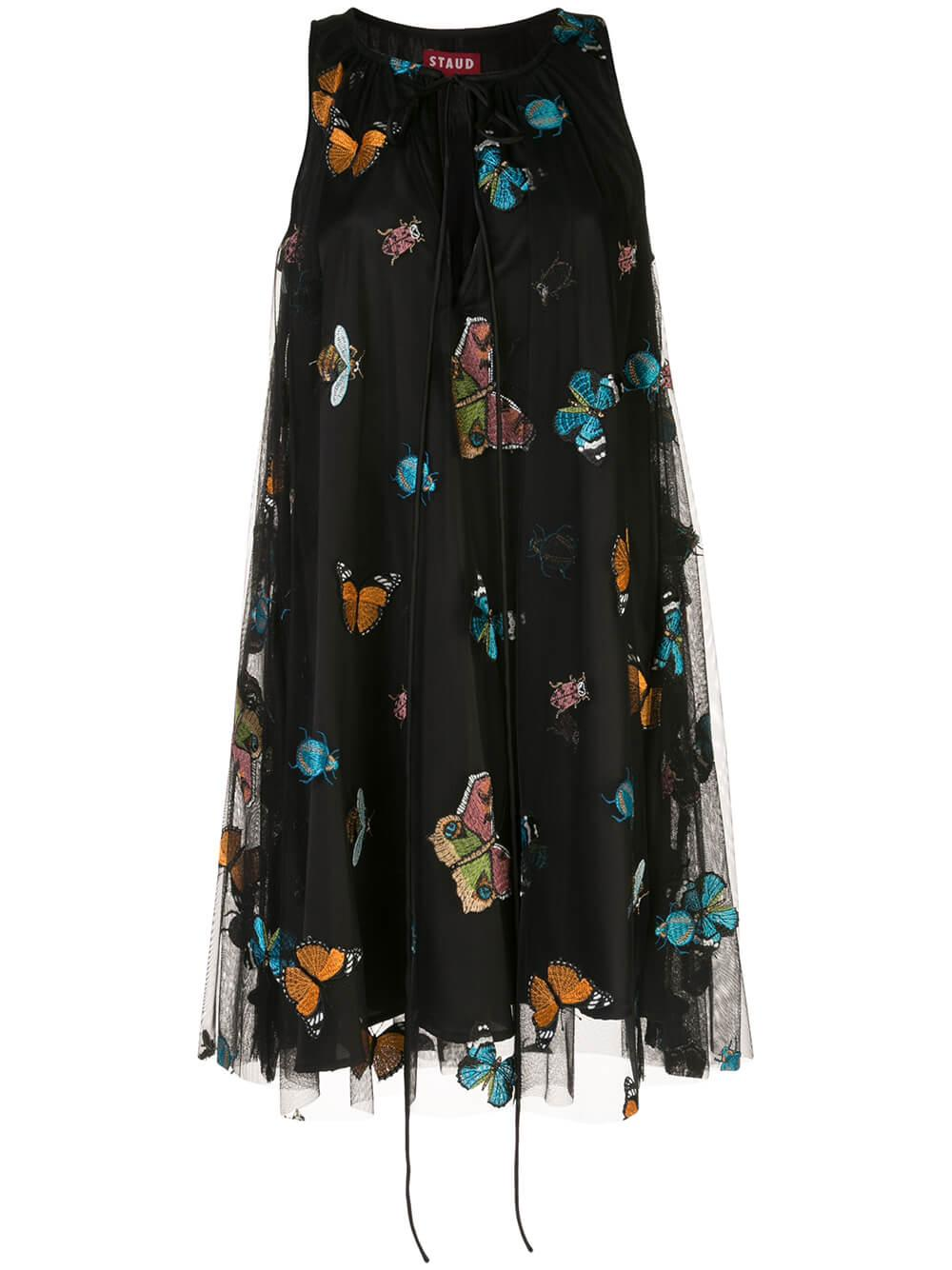 Tulsi Embroidered Butterfly Mini Dress