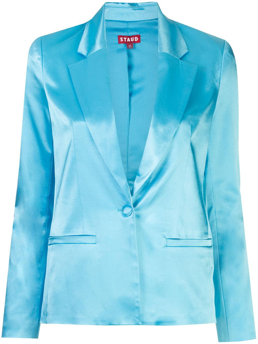 Madden Sateen Single Button Blazer Item # 213-8061-BRBL