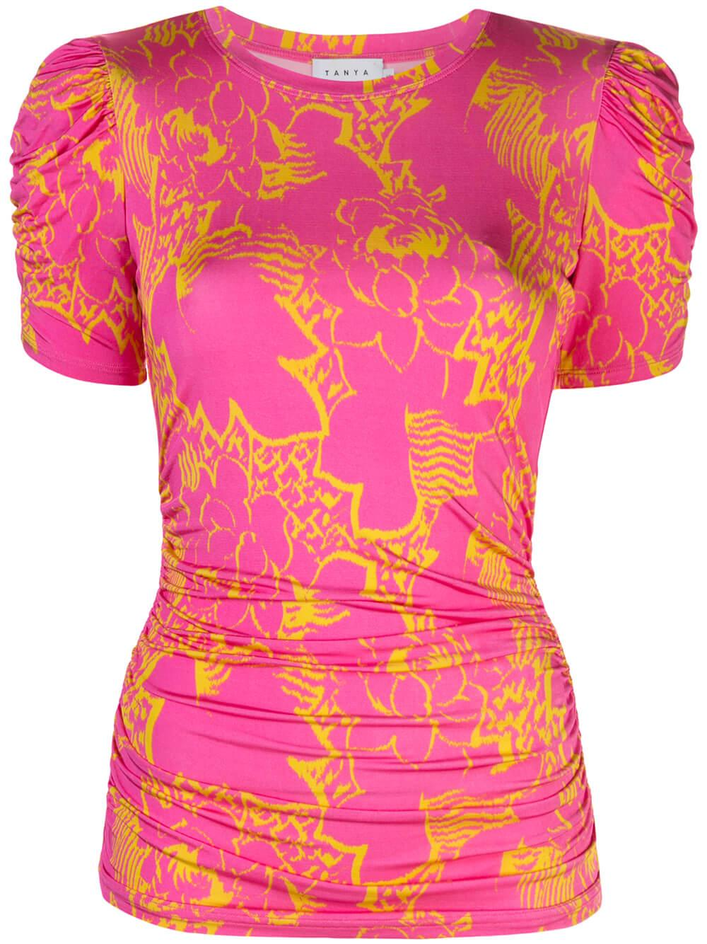 Chaia Short Sleeve Printed Top