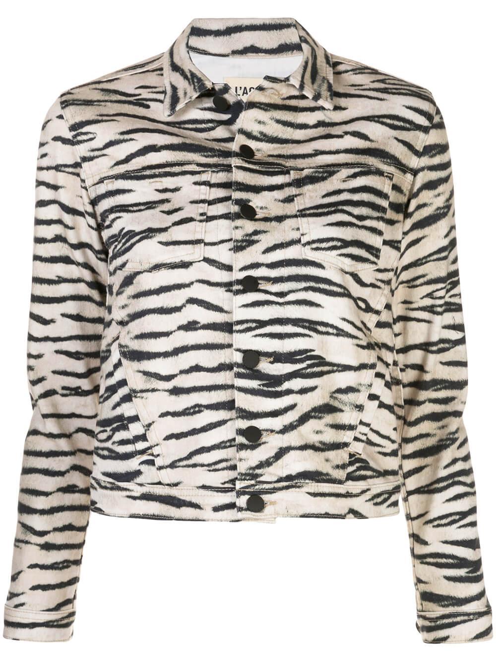Celine Zebra Print Slim Jacket Wildcat Item # 1321WCK