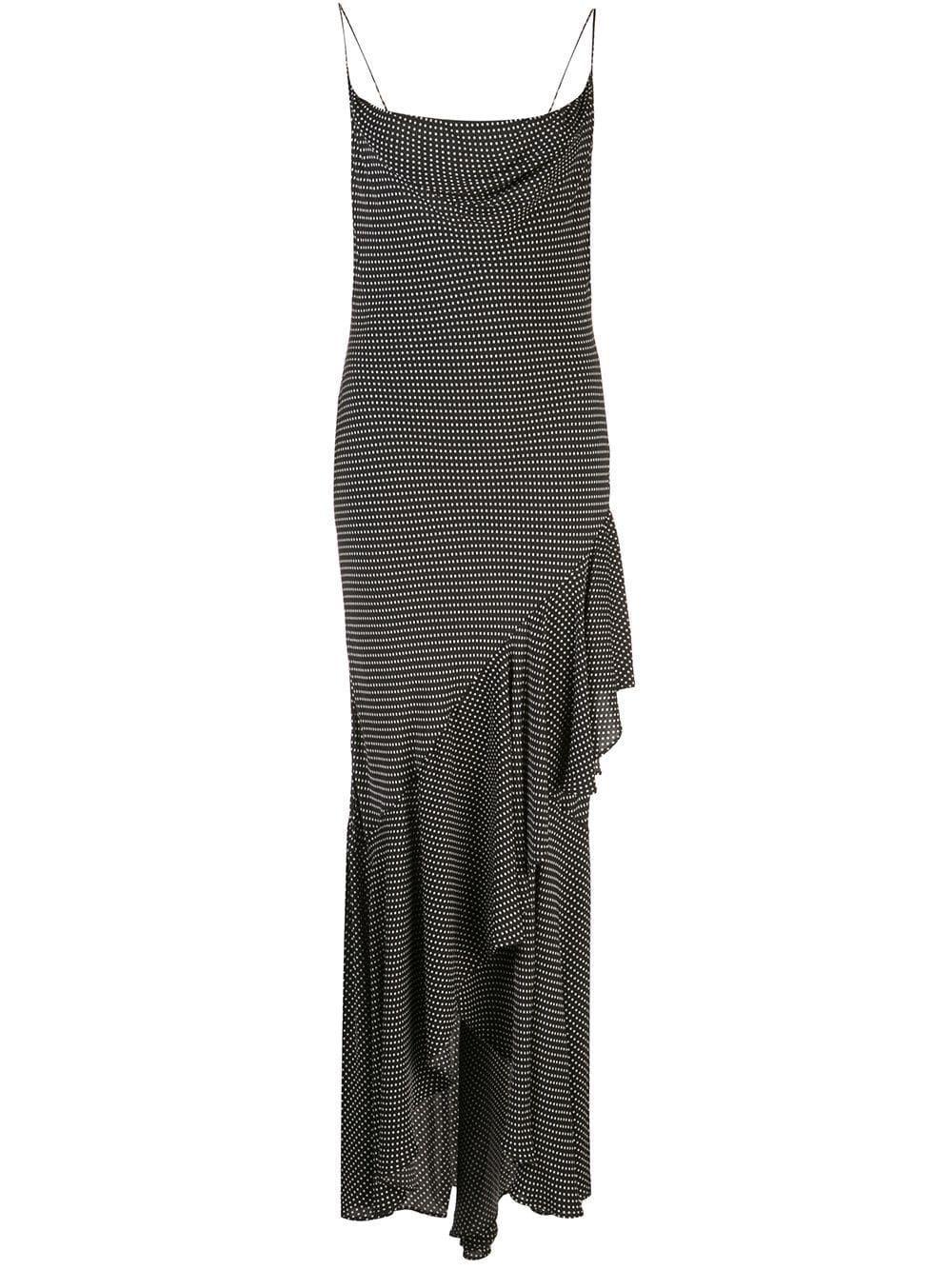 Ginger Cowl Neck Ruffle Skirt Dress