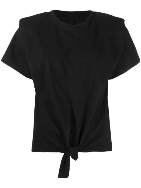 Short Sleeve Evening T-Shirt With Tie Front