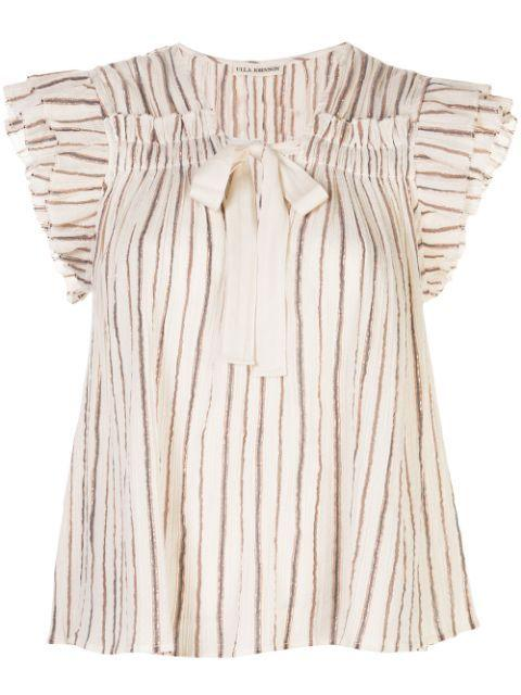 Bria Ruffle Sleeve Top Item # SP200228