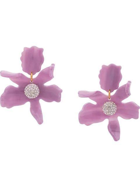 Small Crystal Lily Pierced Item # LS0625LI-S20