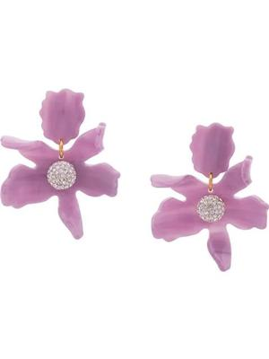 Small Crystal Lily Pierced