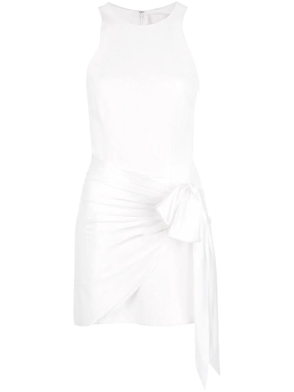 Windsor Silk Wrap Sleeveless Short Dress
