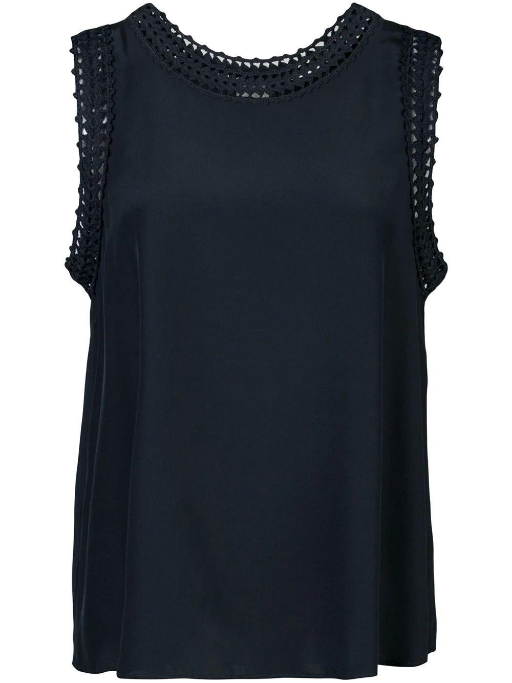 Ellina Sleeveless Lace Trim Tank Item # ZK5251468Z