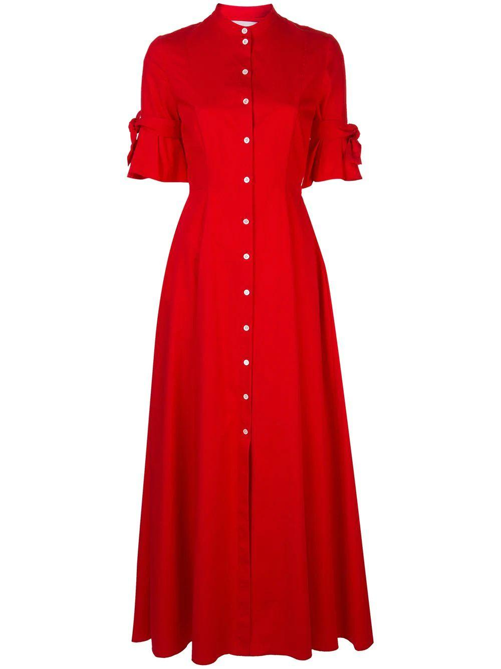 Short Sleeve Shirt Dress With Sleeve Knot