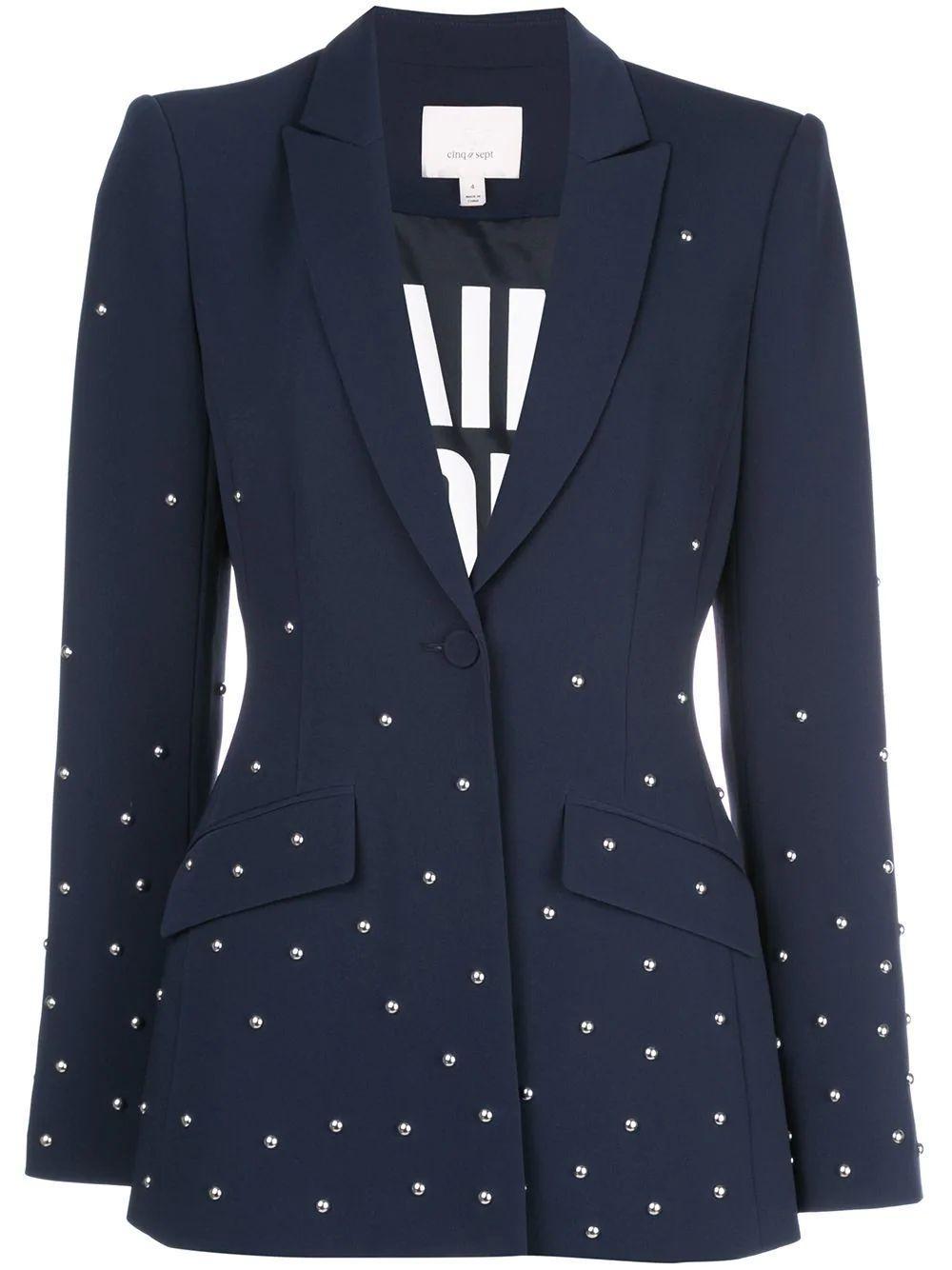 Estelle Stud Embellished Blazer