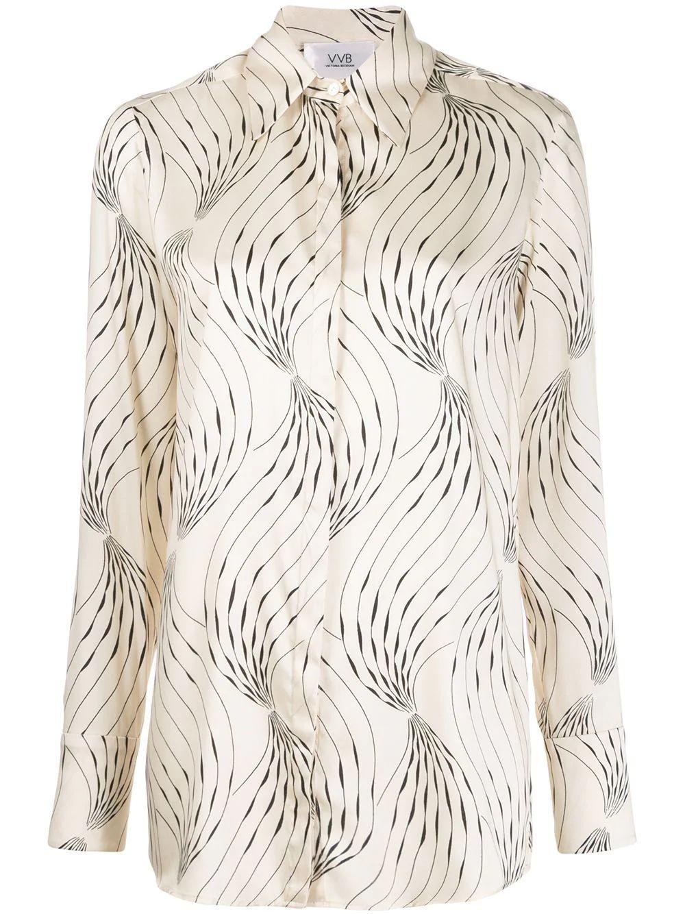 Long Sleeve Printed Classic Shirt