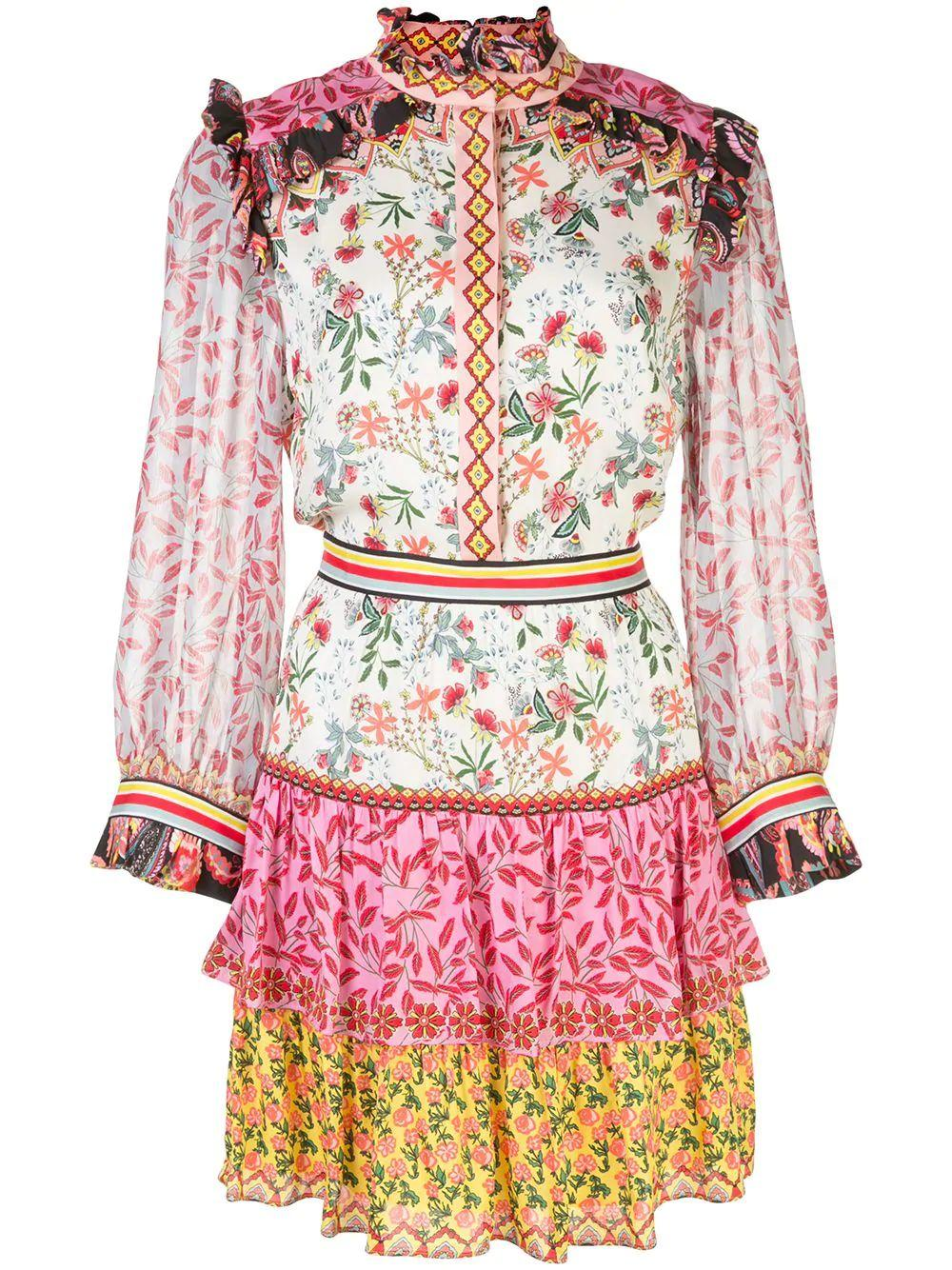 Kathy Button Down Tiered Dress Item # CC003P61509-C