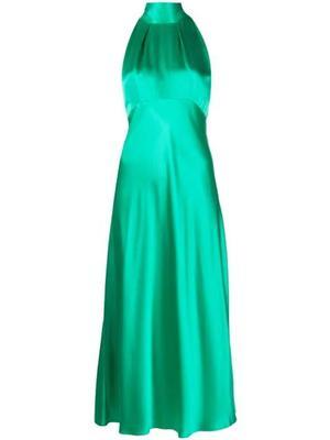 Michelle Halter Satin Midi Dress