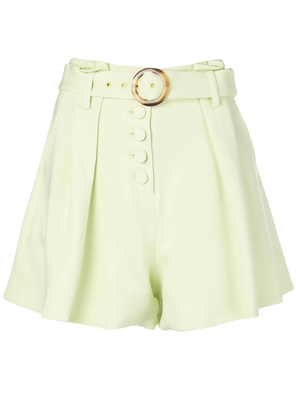 Lena Belted Crepe Short Item # 220-4009-R