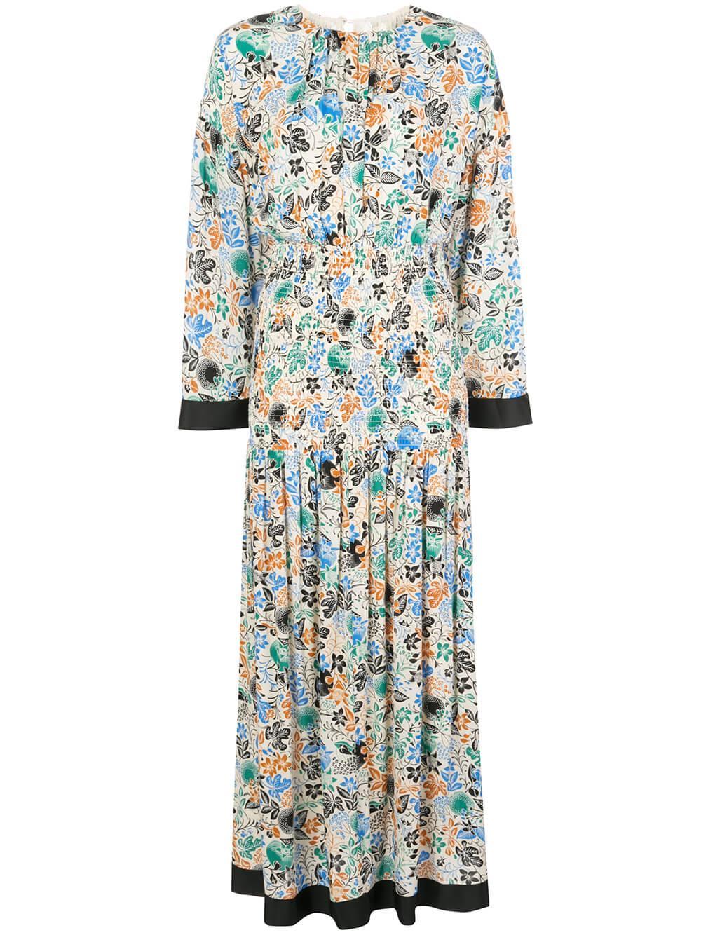 Reham Moroccan Garden Print Dress Item # 2200296