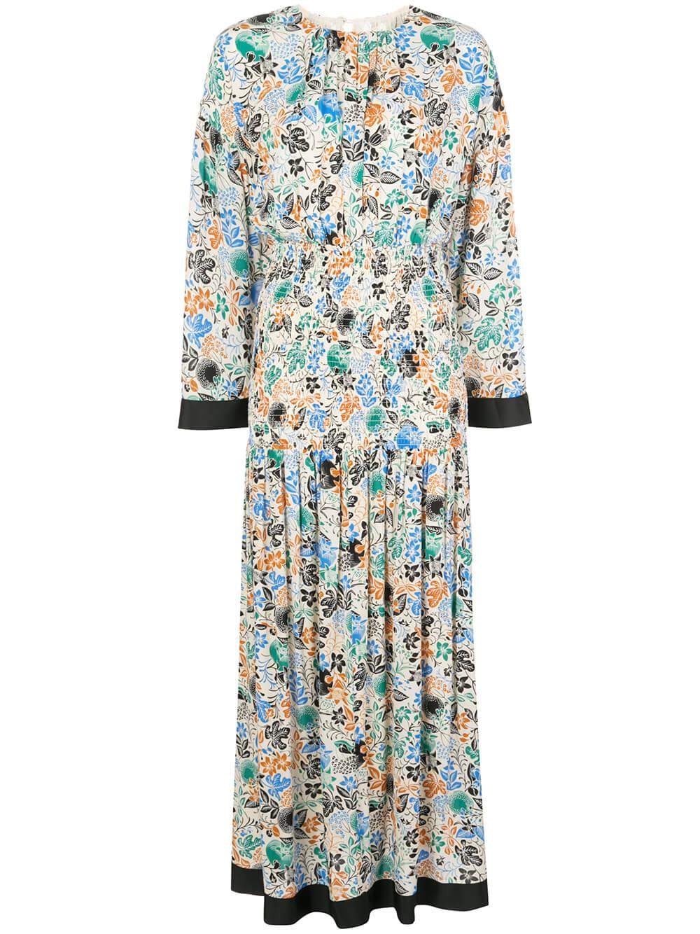Reham Moroccan Garden Print Dress