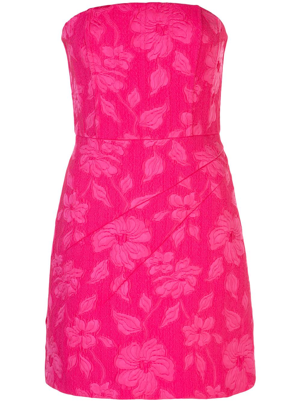 Perla Boned Strapless Jacquard Mini Dress Item # CC002Q06532