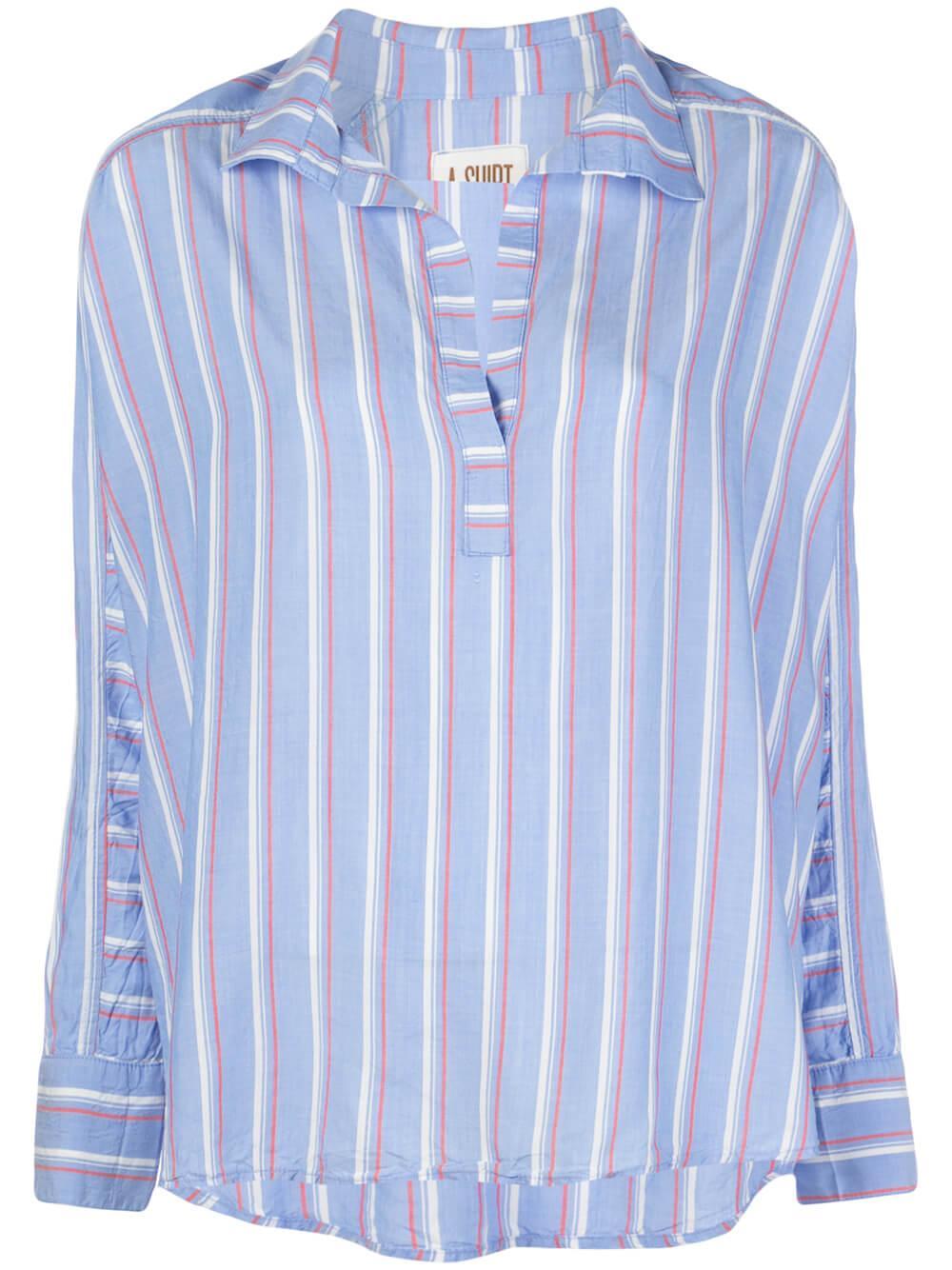 Diego Split Neck Long Sleeve Shirt