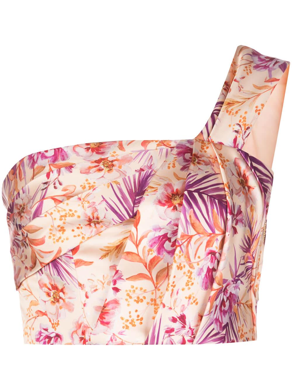Madame Printed One Shoulder Top