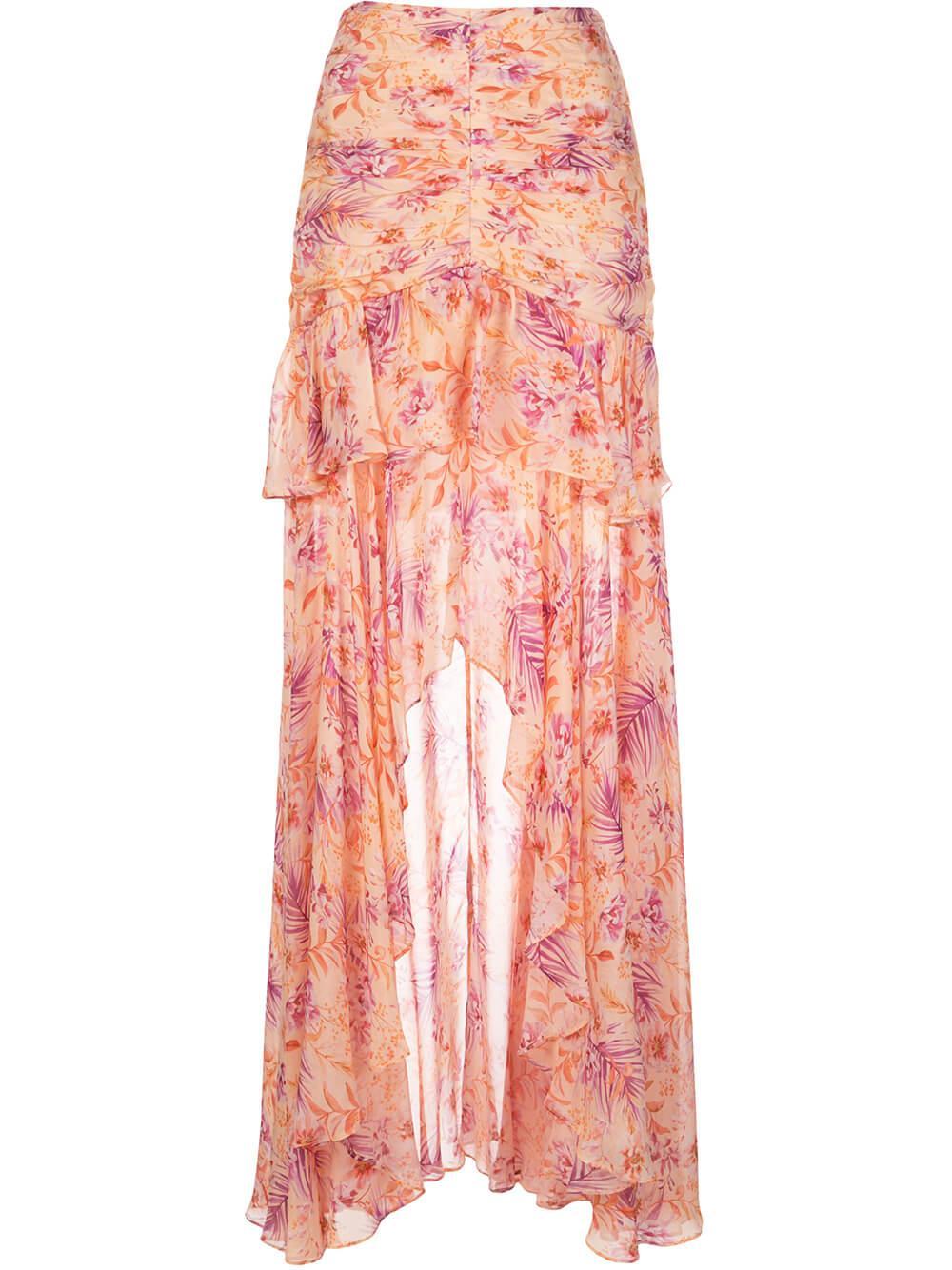 Fie High Low Printed Skirt Item # 5832238