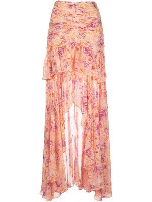 Fie High Low Printed Skirt