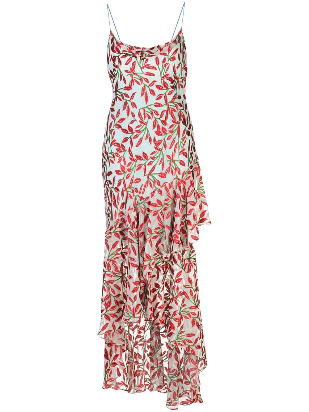 Ginger Cowl Neck Ruffle Skirt Dress Item # CC003B36534